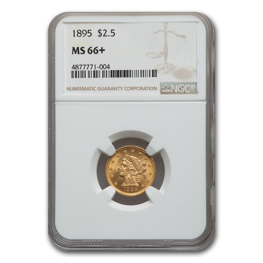 1895 $2.50 Liberty Gold Quarter Eagle MS-66+ NGC