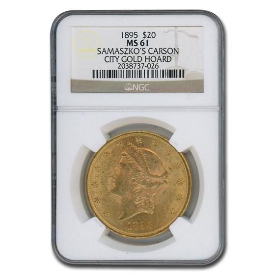 1895 $20 Liberty Gold Double Eagle MS-61 NGC