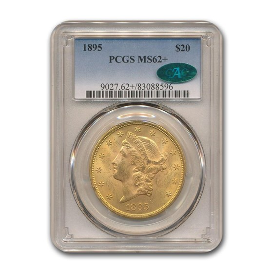 1895 $20 Liberty Gold Double Eagle MS-62+ PCGS CAC