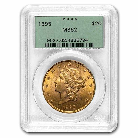 1895 $20 Liberty Gold Double Eagle MS-62 PCGS (OGH)