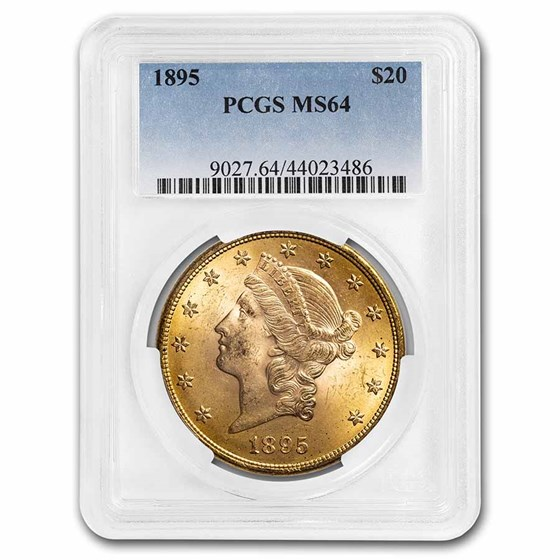 1895 $20 Liberty Gold Double Eagle MS-64 PCGS
