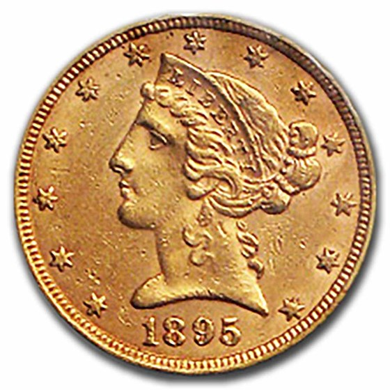 1895 $5 Liberty Gold Half Eagle AU
