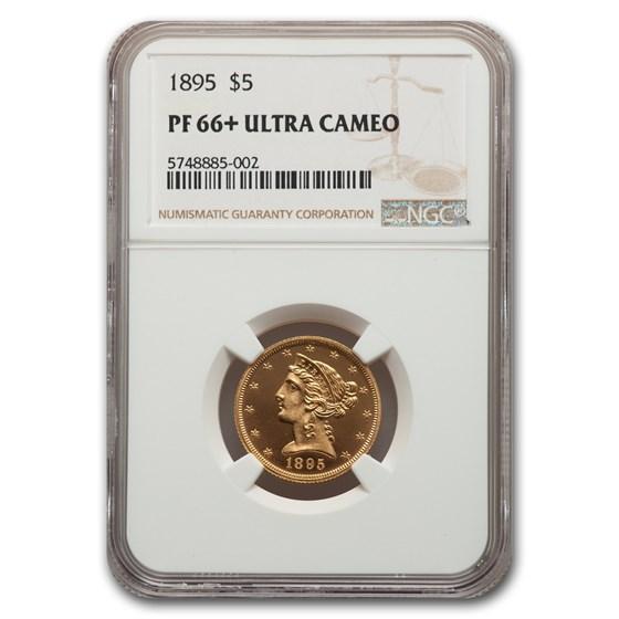 1895 $5 Liberty Gold Half Eagle PF-66+ UCAM NGC
