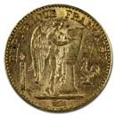1895-A France Gold 20 Francs Angel BU