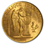 1895-A France Gold 20 Francs Angel MS-63 PCGS