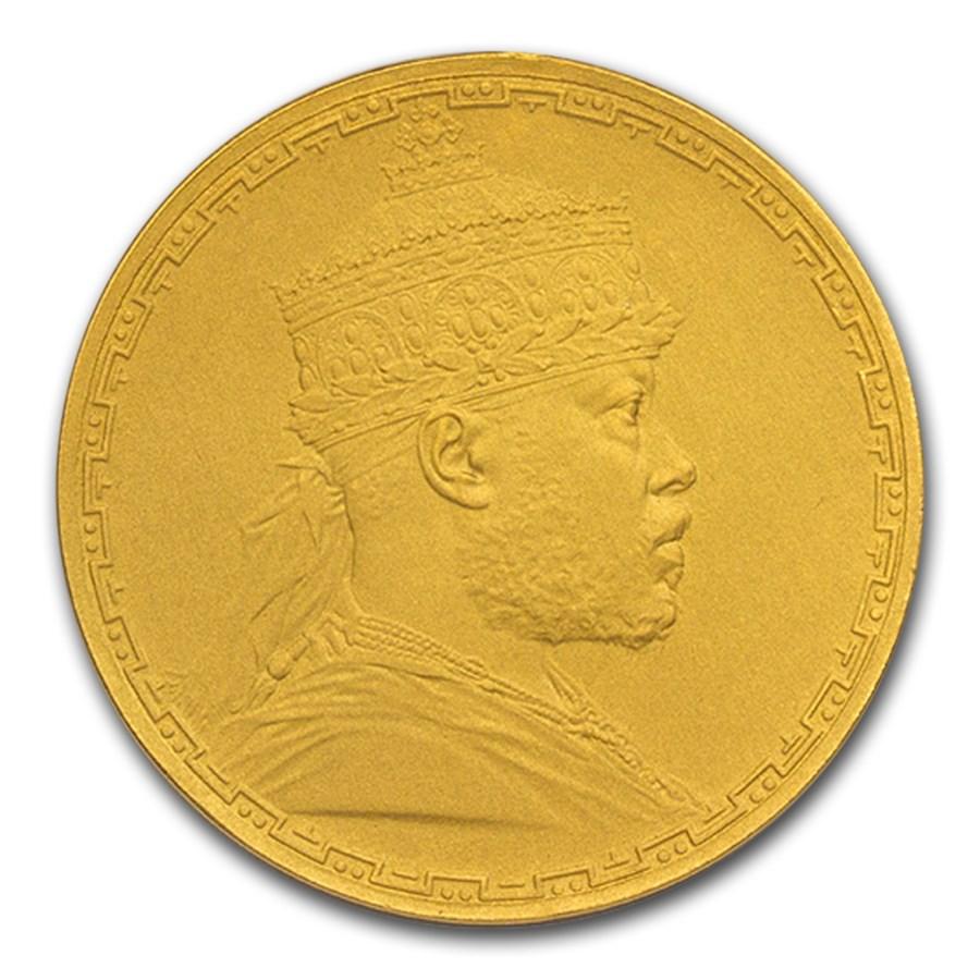 1895 Ethiopia Gold Medal Menelik II PF-67 NGC (Matte)