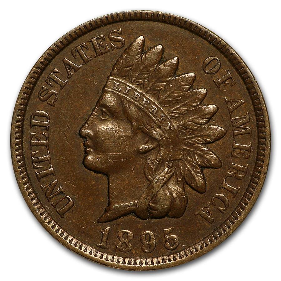 1895 Indian Head Cent AU