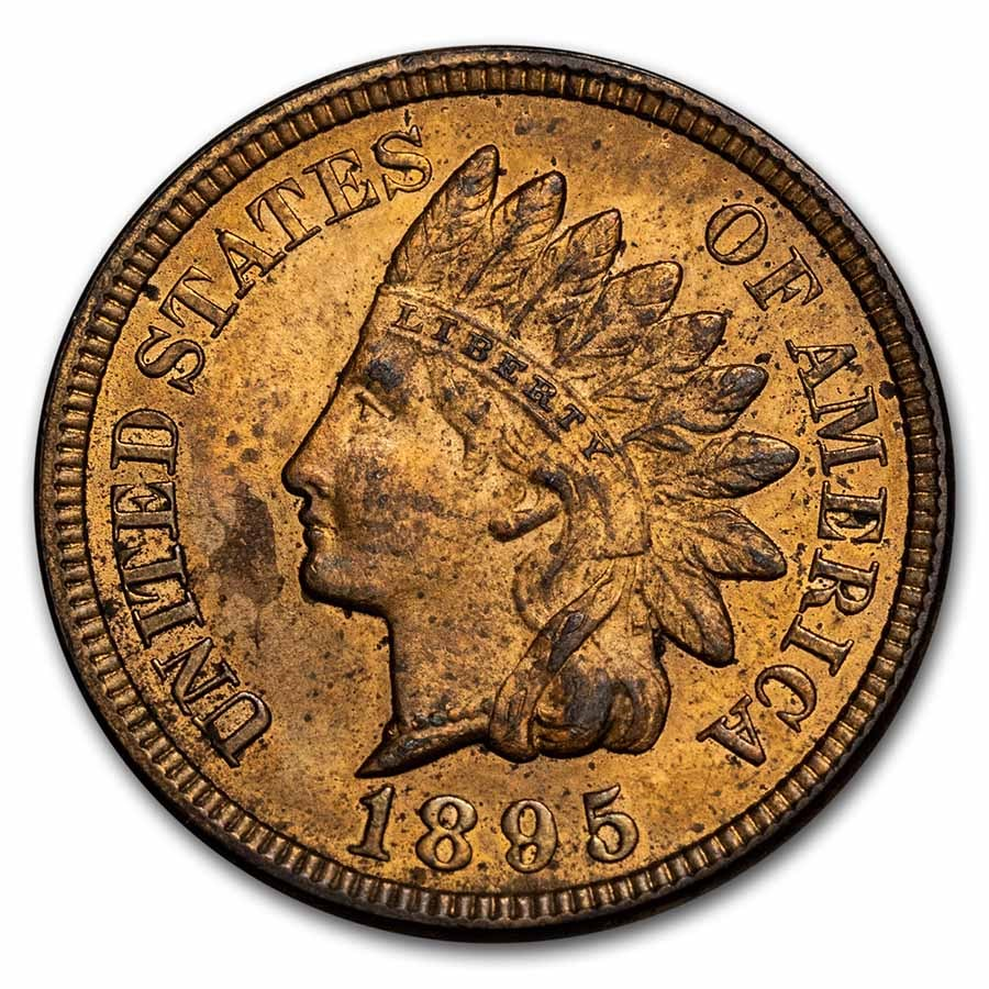 1895 Indian Head Cent BU (Red)