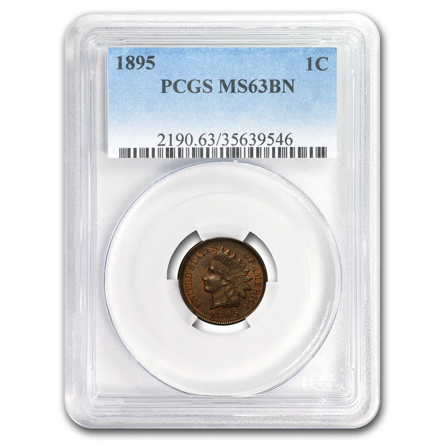 1895 Indian Head Cent MS-63 PCGS (Brown)