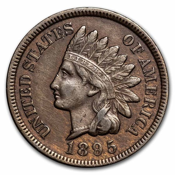 1895 Indian Head Cent XF Details (Cleaned, Corroded or Dmgd)