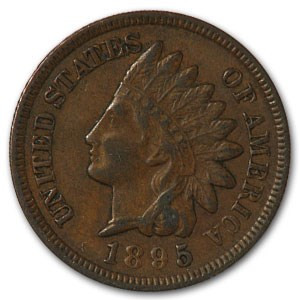1895 Indian Head Cent XF