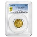 1895-M Australia Gold Sovereign Veil Head Victoria AU-58 PCGS