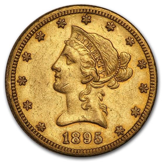 1895-O $10 Liberty Gold Eagle AU (Cleaned)
