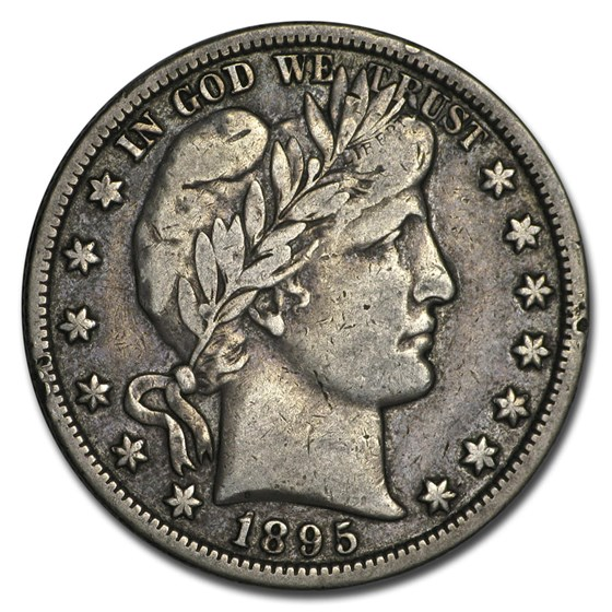 1895-O Barber Half Dollar VF