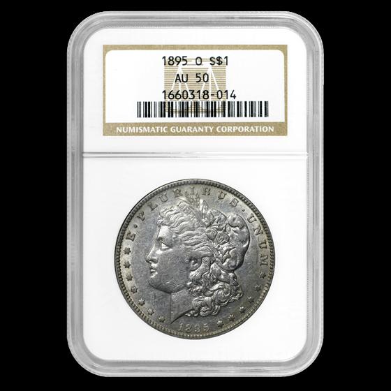 1895-O Morgan Dollar AU-50 NGC