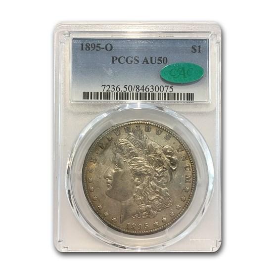 1895-O Morgan Dollar AU-50 PCGS CAC