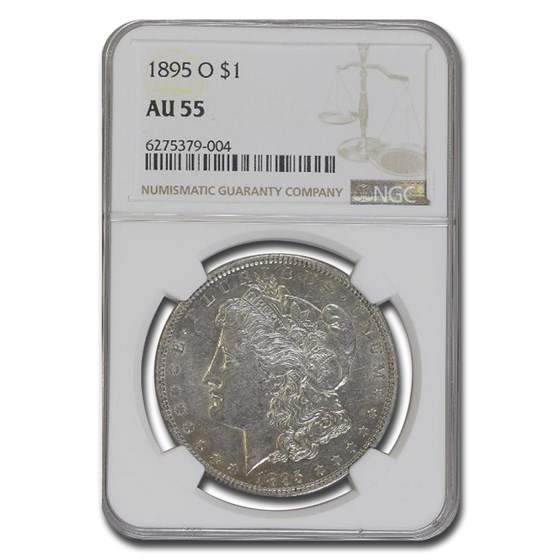 1895-O Morgan Dollar AU-55 NGC