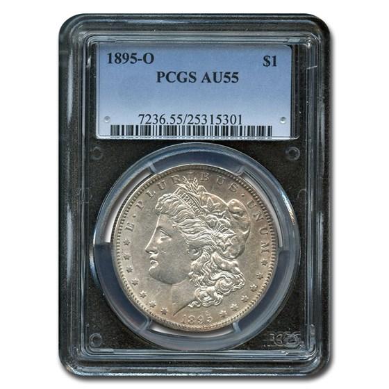 1895-O Morgan Dollar AU-55 PCGS