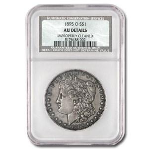1895-O Morgan Dollar AU Details NCS (Improperly Cleaned)