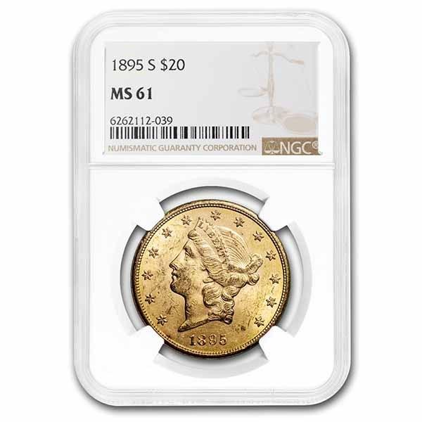 1895-S $20 Liberty Gold Double Eagle MS-61 NGC