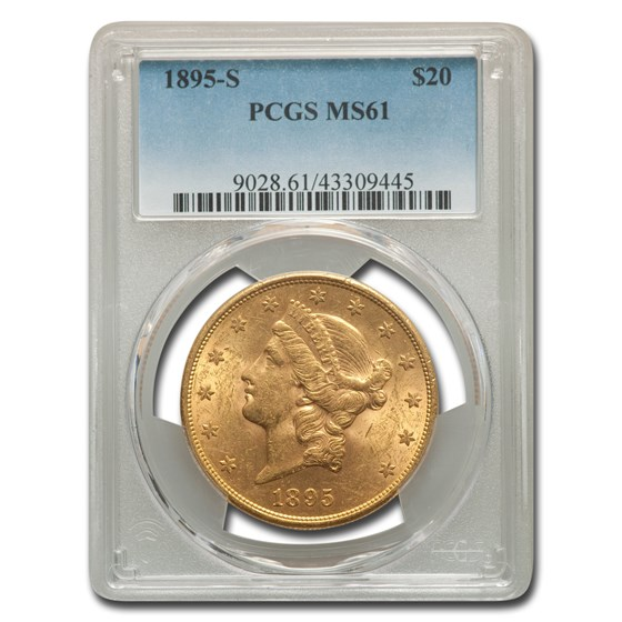 1895-S $20 Liberty Gold Double Eagle MS-61 PCGS