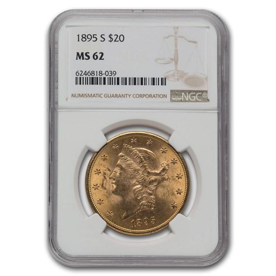 1895-S $20 Liberty Gold Double Eagle MS-62 NGC