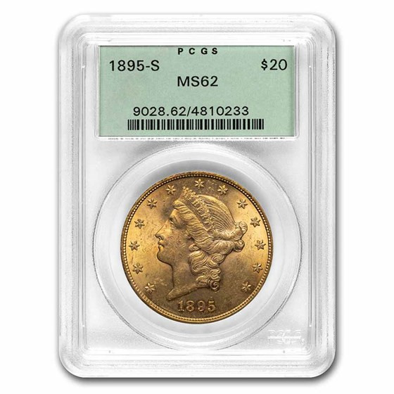 1895-S $20 Liberty Gold Double Eagle MS-62 PCGS (OGH)