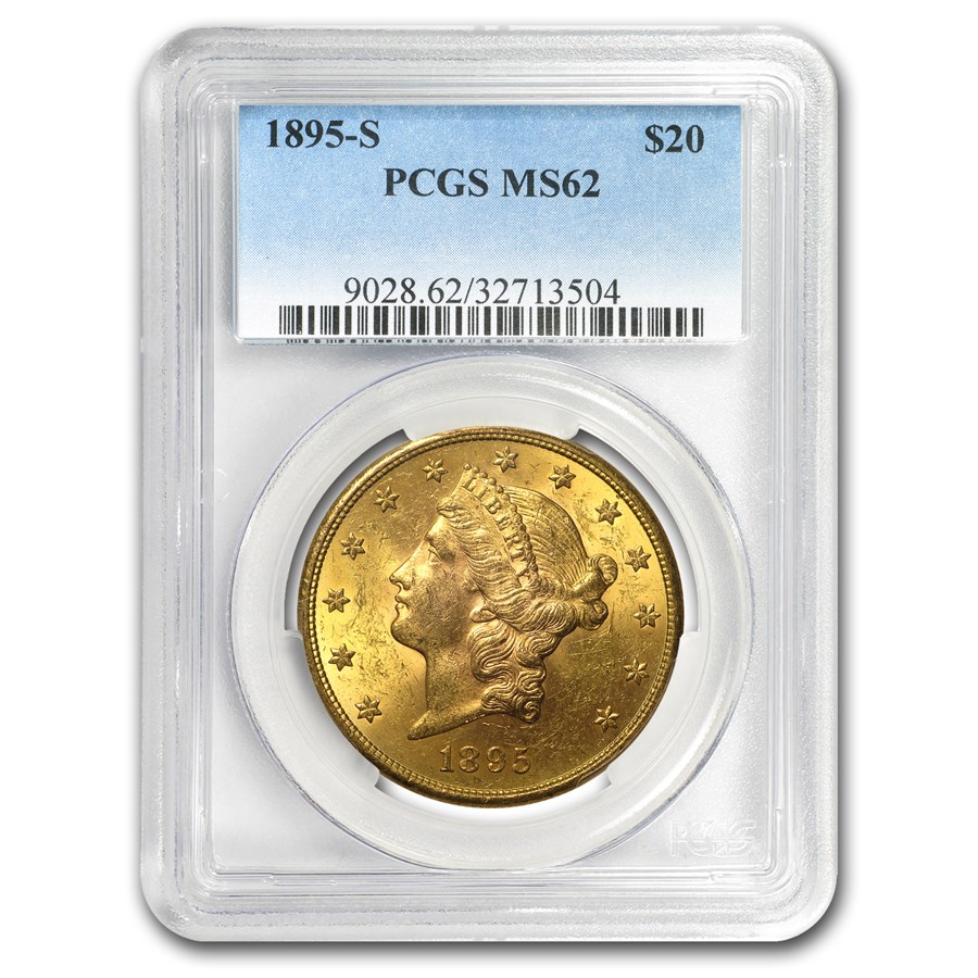 1895-S $20 Liberty Gold Double Eagle MS-62 PCGS