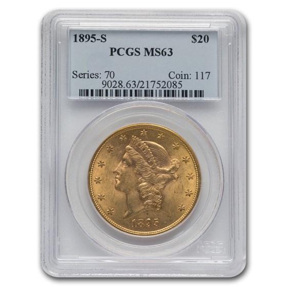 1895-S $20 Liberty Gold Double Eagle MS-63 PCGS
