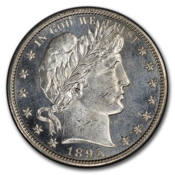 1895-S Barber Half Dollar MS-64 PCGS CAC (PL)