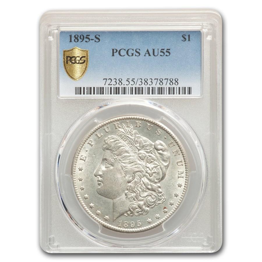 1895-S Morgan Dollar AU-55 PCGS