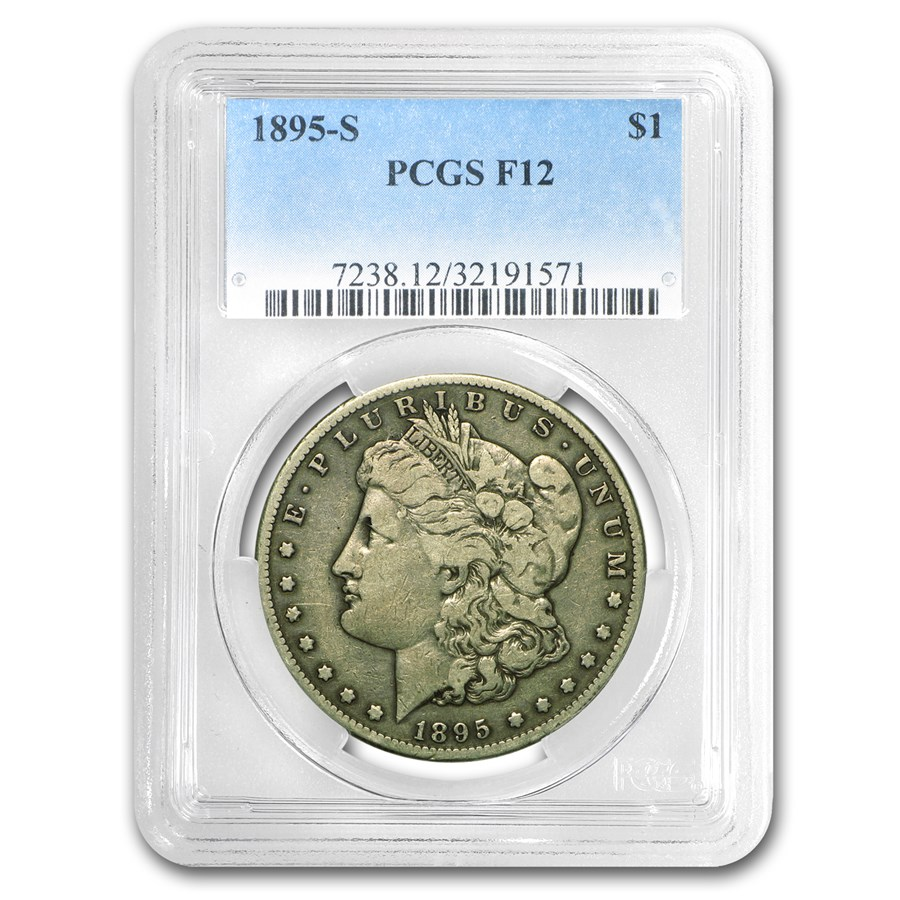 1895-S Morgan Dollar Fine-12 PCGS