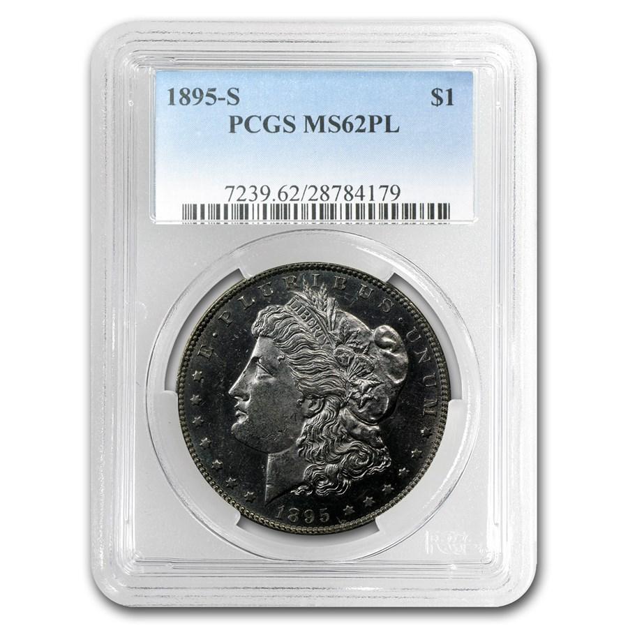 1895-S Morgan Dollar MS-62 PL Proof Like PCGS