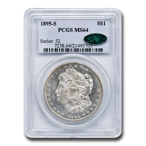 1895-S Morgan Dollar MS-64 PCGS CAC