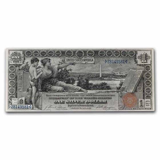 1896 $1.00 Silver Certificate Educational Note CU
