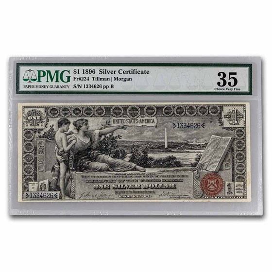 1896 $1.00 Silver Certificate Educational Note VF-35 PMG