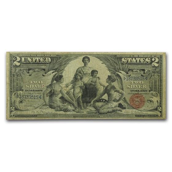 1896 $2.00 Silver Certificate Educational Note VG/Fine (Fr#244)