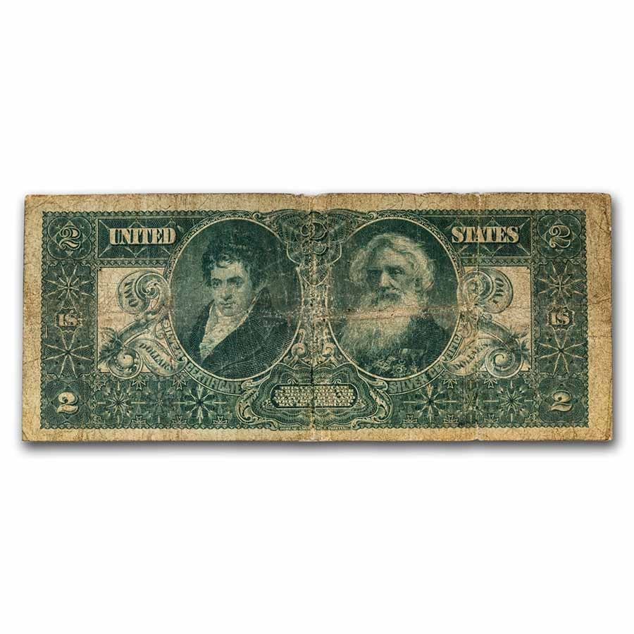 1896 $2.00 Silver Certificate Educational Note VG (Fr#248)