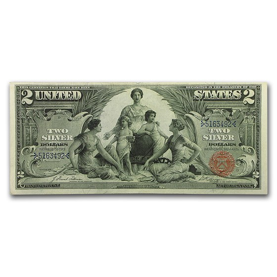 1896 $2.00 Silver Certificate Educational Note XF