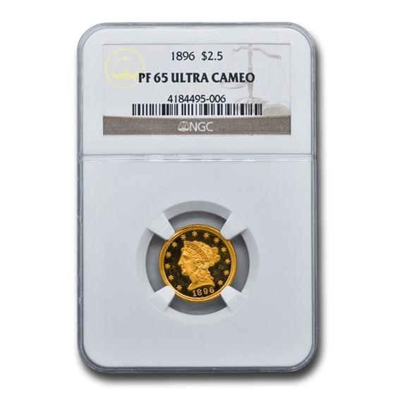 1896 $2.50 Liberty Gold Quarter Eagle PF-65 UCAM NGC