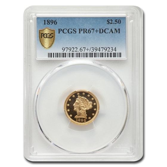 1896 $2.50 Liberty Gold Quarter Eagle PR-67 DCAM+ PCGS