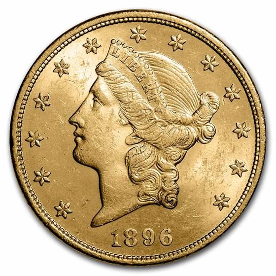 1896 $20 Liberty Gold Double Eagle AU