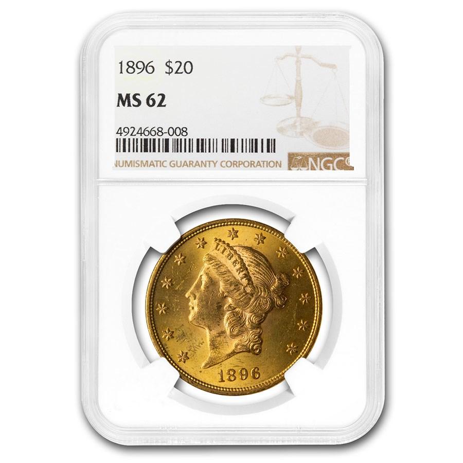 1896 $20 Liberty Gold Double Eagle MS-62 NGC