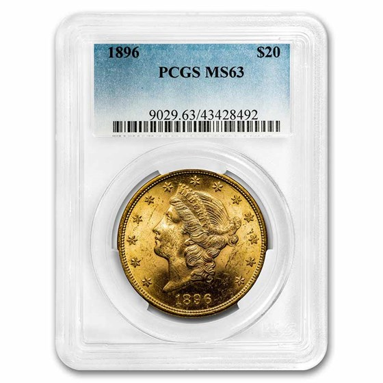 1896 $20 Liberty Gold Double Eagle MS-63 PCGS