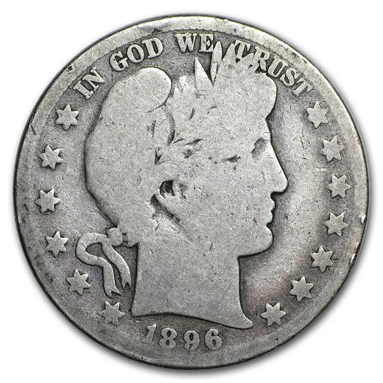 1896 Barber Half Dollar AG
