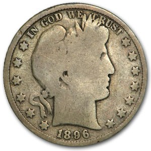 1896 Barber Half Dollar Good