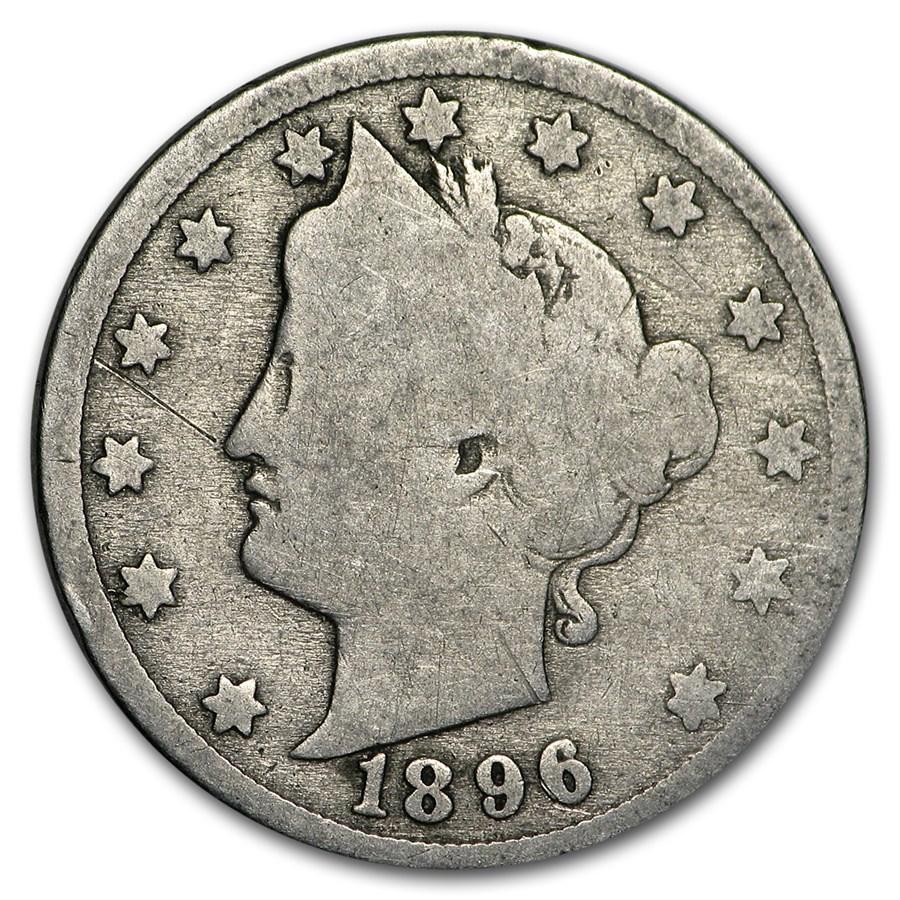 1896 Liberty Head V Nickel AG