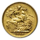 1896-M Australia Gold Sovereign Victoria Veiled Head AU