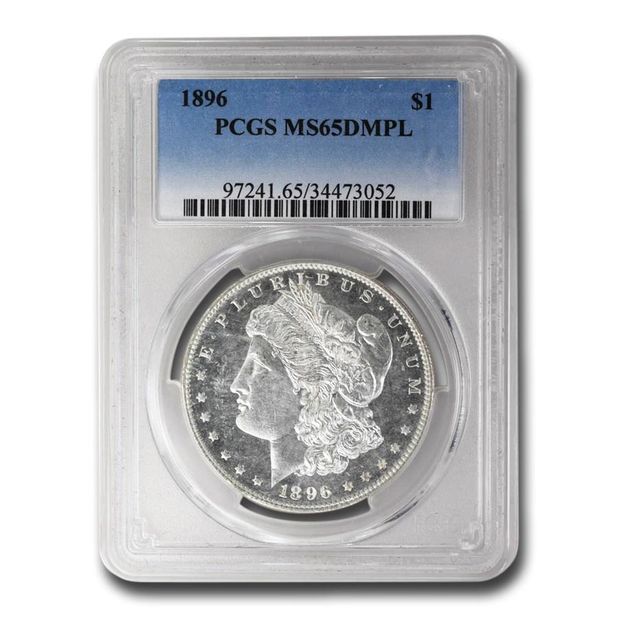 1896 Morgan Dollar DMPL MS-65 PCGS