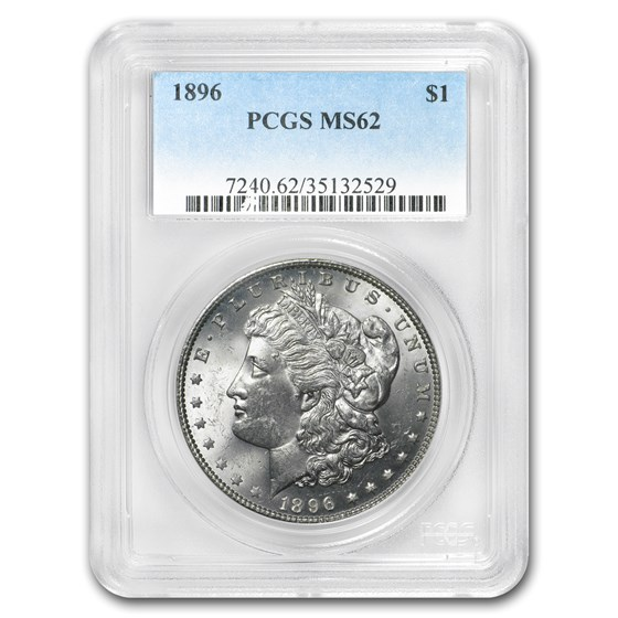 1896 Morgan Dollar MS-62 PCGS